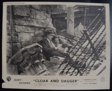 Cloak and Dagger - Vintage Movie Still | Gary Cooper | Fritz Lang
